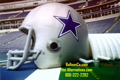 Old Dallas Helmet and Tunnel