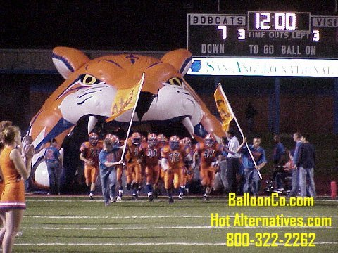 San Angelo Central TX High School Bobcats Football Mascot Tunnel