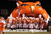 Click for Other Views Tiger Head Mascot Football Tunnel on Field